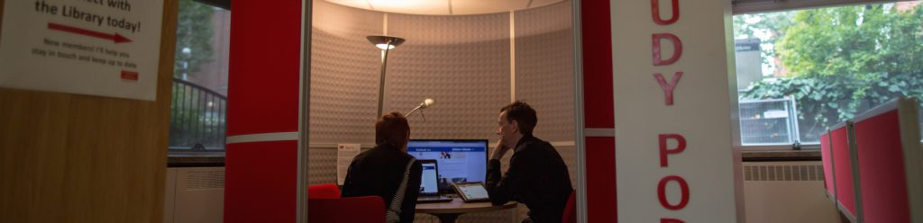 the study pod in the library