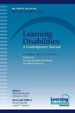 Learning Disabilities A Contemporary Journal