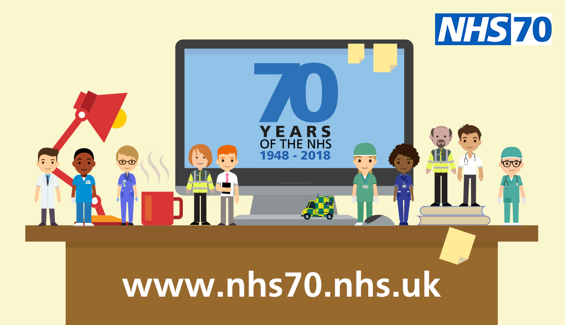 NHS 70 staff illustration