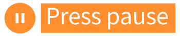 Press pause logo and icon