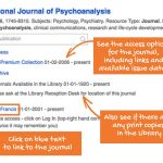 How to get information from Journal Finder
