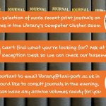 How to access print journals in the library