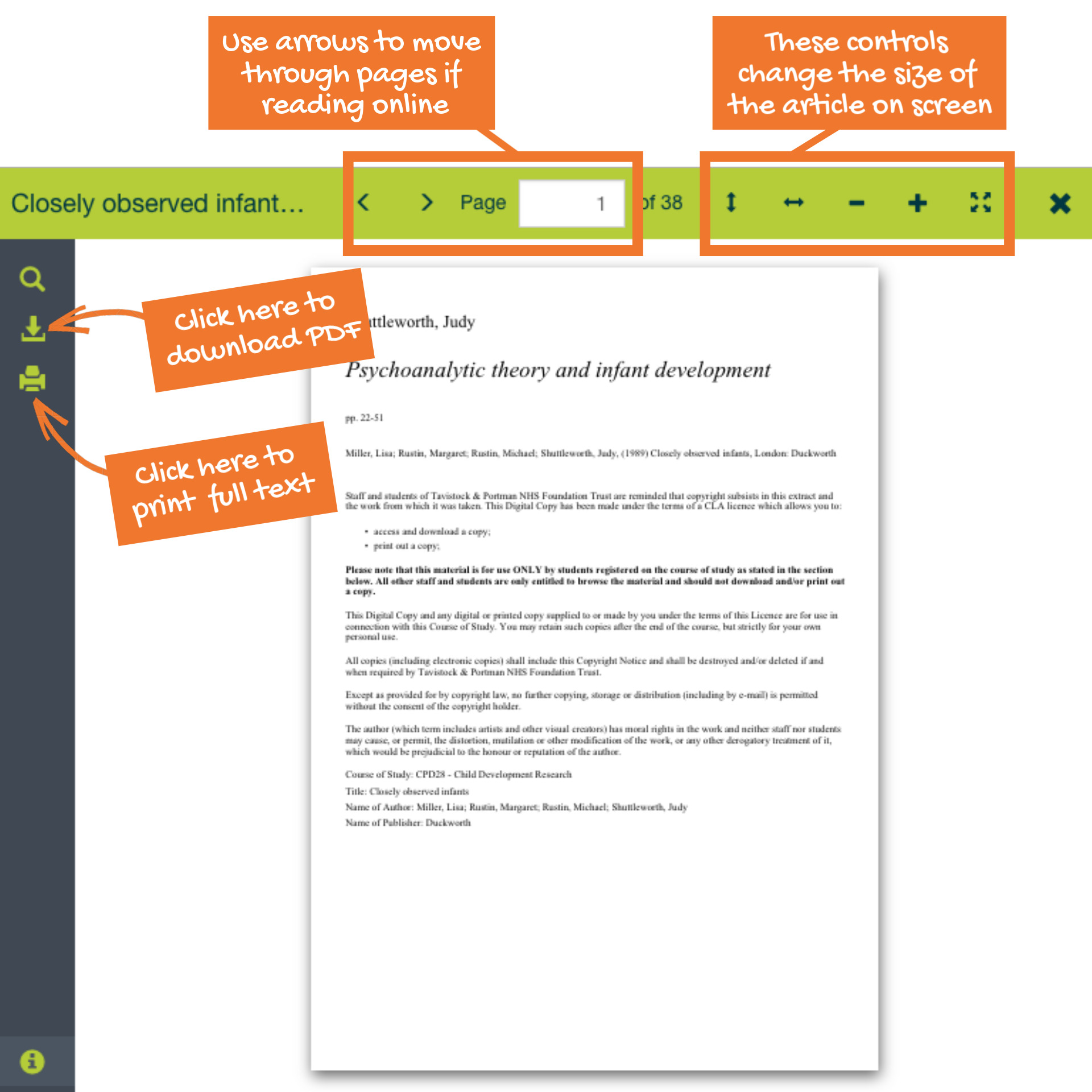 How to download and print a PDF of a scanned paper