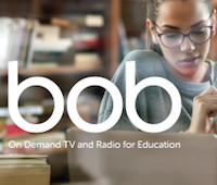 Student watching BoB on Demand on a laptop