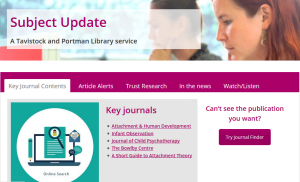 Library Subject Update page