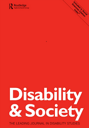 Disability and Society journal