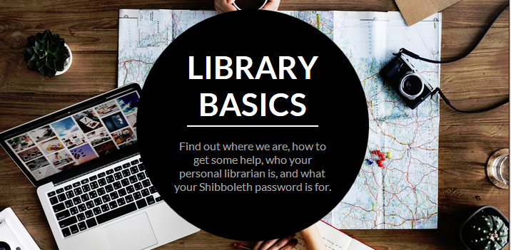 Library Basics elearning introductory image
