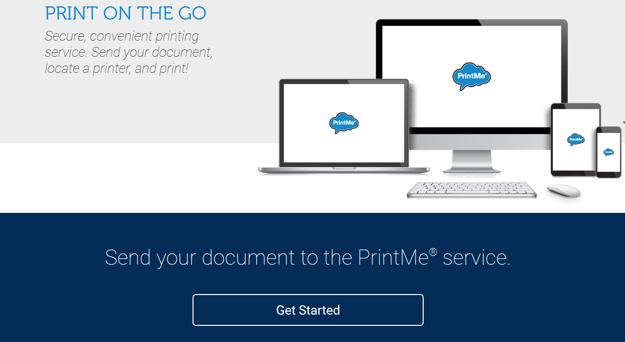 Print Me get started web page