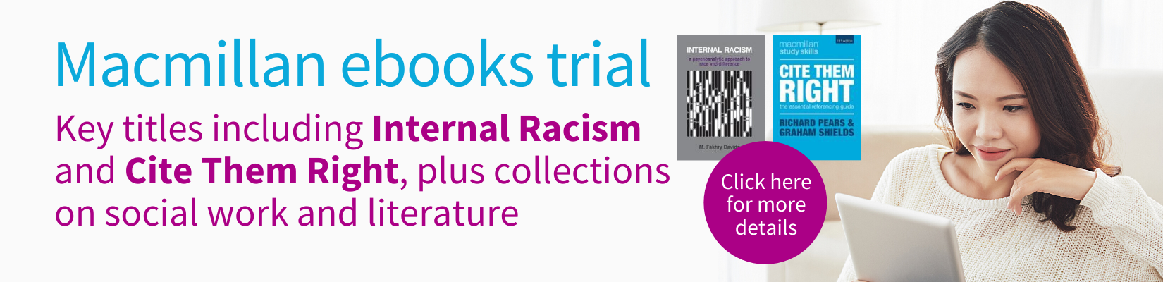 Macmillan ebook trial click here for more details