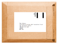 Parcel with label